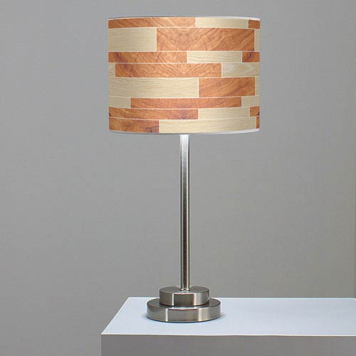 Tile 4 Oak and Mahogany One-Light Table Lamp