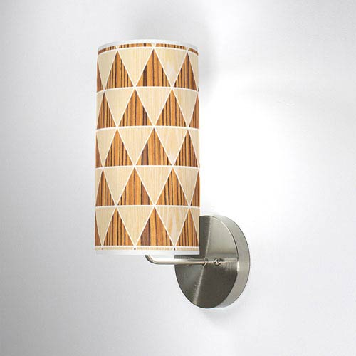 Triangle 2 Oak and Zebrawood One-Light Wall Sconce