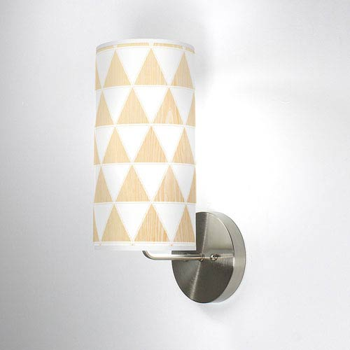 Triangle 1 White Oak One-Light Wall Sconce