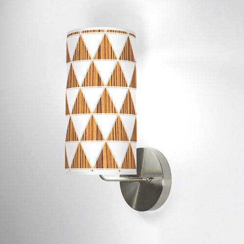 Triangle 1 Zebrawood One-Light Wall Sconce