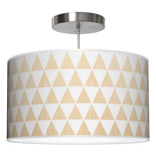 Triangle 1 Walnut 16-Inch One-Light Drum Pendant