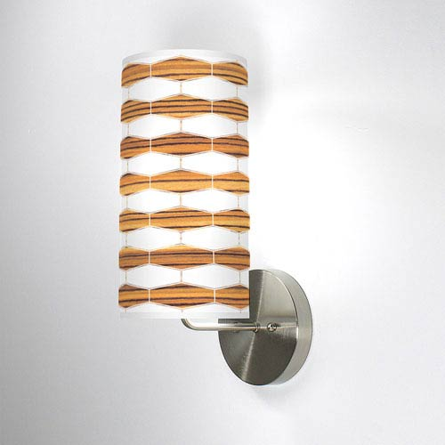 Weave 3 Zebrawood One-Light Wall Sconce