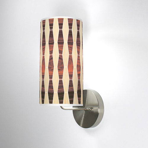Weave 2 Oak and Rosewood One-Light Wall Sconce