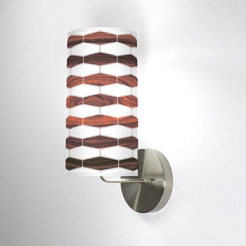 Weave 3 Rosewood One-Light Wall Sconce