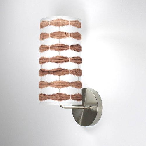 Weave 3 Walnut One-Light Wall Sconce