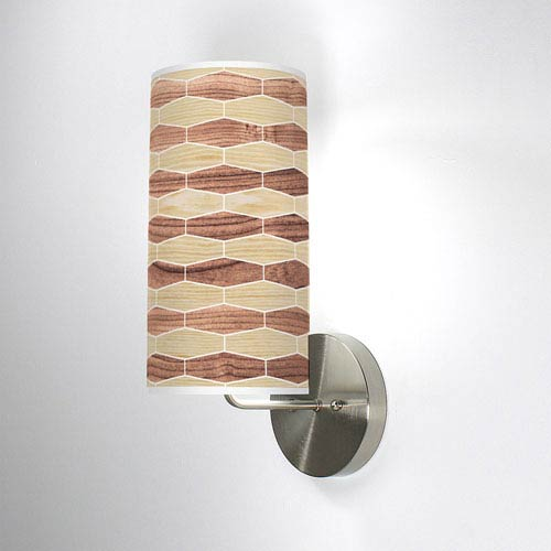 Weave 4 Oak and Walnut One-Light Wall Sconce