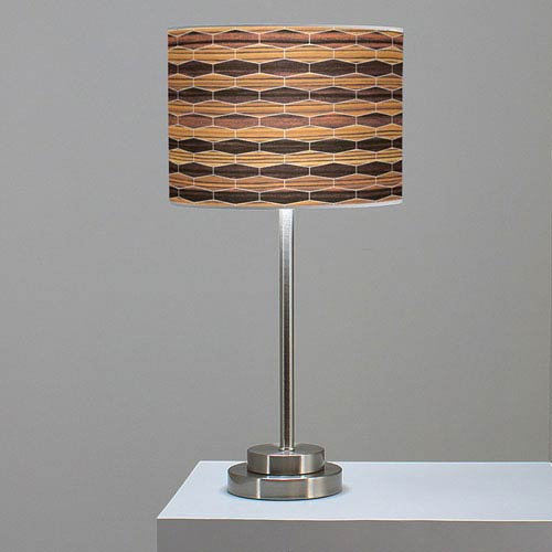 Weave 4 Zebrawood and Ebony One-Light Table Lamp