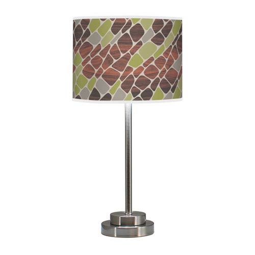 Cell Multicolor One-Light Table Lamp with Green Stem