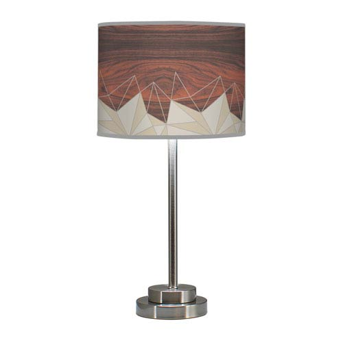 Facet Multicolor One-Light Table Lamp with Cream Stem