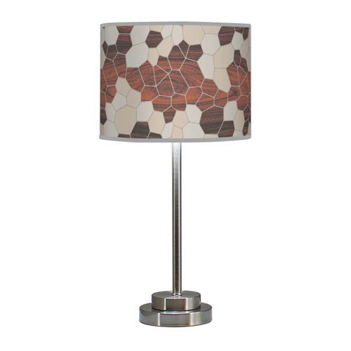 Geode Multicolor One-Light Table Lamp with Cream Stem