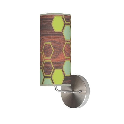 Hex Green One-Light Wall Sconce