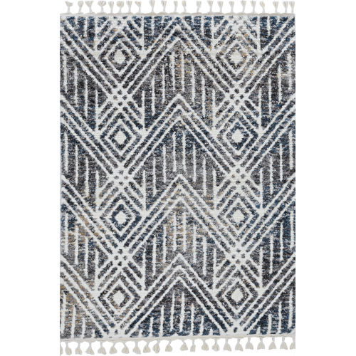Bungalow Gray and Ivory Rectangular: 5 Ft. 3 In. x 7 Ft. 7 In. Rug