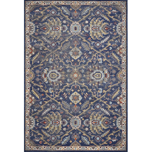 Corsica Courtyard Royal Blue Rectangular: 7 Ft. 10 In.X 10 Ft. 10 In. Area Rug
