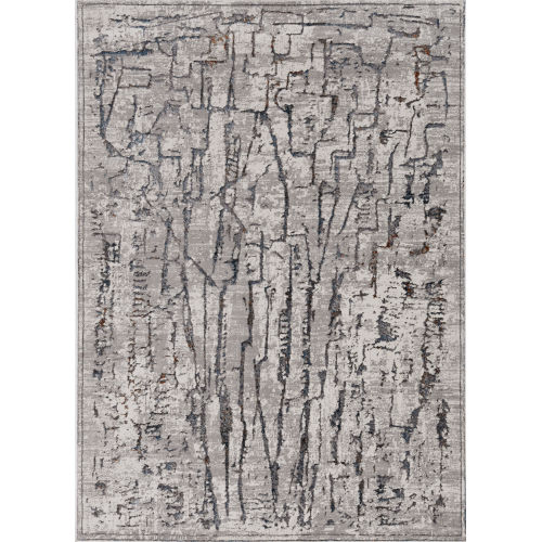 Inspire Grey Expressions Rectangle: 6 Ft. 7 In. x 9 Ft. 6 In. Area Rug