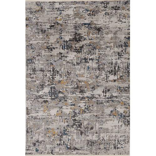Karina Grey Landscape Rectangle: 8 Ft. 10 In. x 13 Ft. 2 In. Area Rug