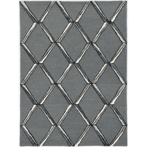 Libby Langdon Upton Charcoal and Silver Rectangular: 5 Ft. x 7 Ft. Rug