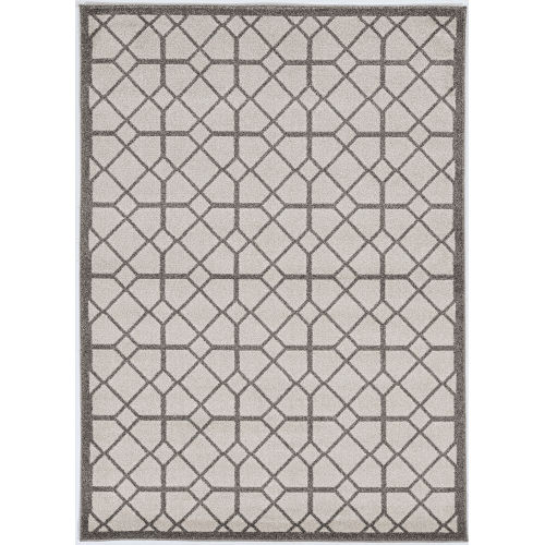 Lucia Scope Ivory and Gray Indoor/Outdoor Rug