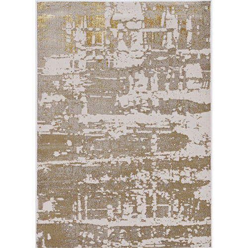 Luna Escape Ivory and Gold Rectangular: 9 Ft. 10 In. x 13 Ft. 2 In. Area Rug