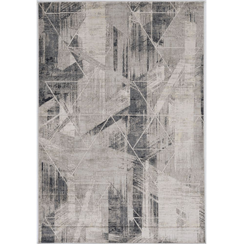 Montreal Visions Gray Rectangular: 5 Ft. 3 In. x 7 Ft. 7 In. Area Rug