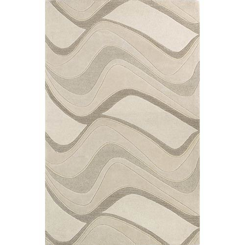 Eternity Ivory Waves Rectangular: 5 ft. x 8 ft. Rug