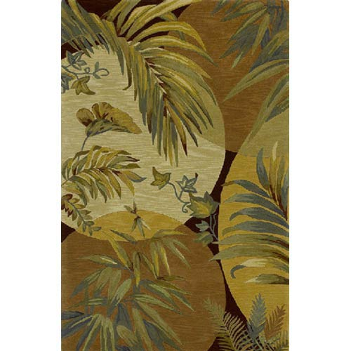 Sparta Coral/Ivory Breezes Rectangular: 5 ft. 3 in. x 8 ft. 3 in. Rug
