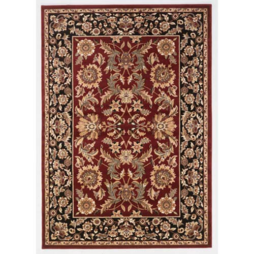 Cambridge Red/Black Kashan Rectangle: 5 Ft. 3 In. x 7 Ft. 7 In. Rug