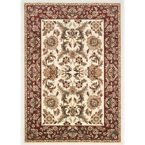 Cambridge Ivory/Red Kashan Rectangle: 5 Ft. 3 In. x 7 Ft. 7 In. Rug