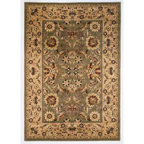 Cambridge Green/Taupe Kashan Octagon: 7 Ft.7 In. Rug
