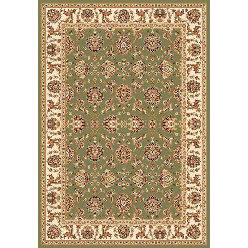 Cambridge Green/Ivory Kashan Rectangle: 5 Ft. 3 In. x 7 Ft. 7 In. Rug