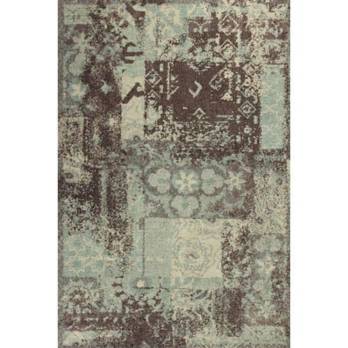 KAS Oriental Rugs Allure Blue and Mocha Palette Rectangular: 5 Ft. x 7 Ft. Rug