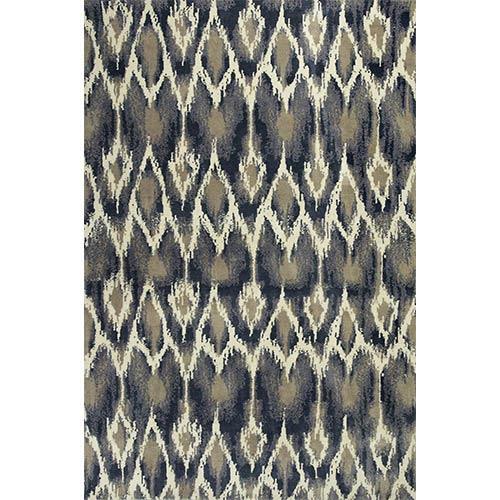 KAS Oriental Rugs Allure Ivory and Grey Horizon Runner: 2 Ft. 3 In. x 7 Ft. 6 In. Rug