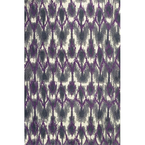 KAS Oriental Rugs Allure Grey and Purple Horizon Rectangular: 5 Ft. x 7 Ft. Rug