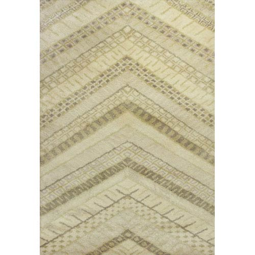 KAS Oriental Rugs Amore Cream Chevron Rectangular: 5 Ft. x 7 Ft. 6 In. Rug