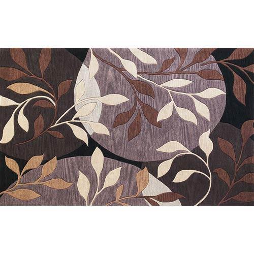 KAS Oriental Rugs Bali Plum/Black Mosaic Rectangular: 5 ft. x 8 ft. Rug