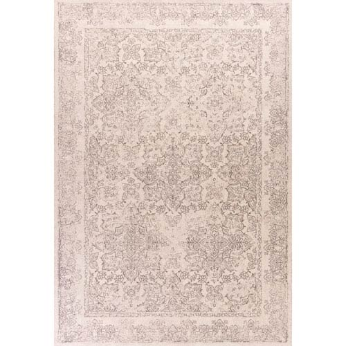 KAS Oriental Rugs Bob Mackie Home Vintage Ivory Rectangular: 3 Ft. 3-Inch x 4 Ft. 11-Inch Rug