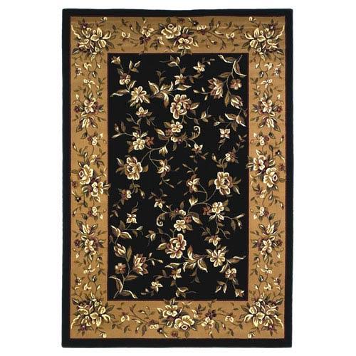 KAS Oriental Rugs Cambridge Black/Beige Floral Delight Rectangular: 2 Ft. 3 In. x 3 Ft. 3 In.  Rug