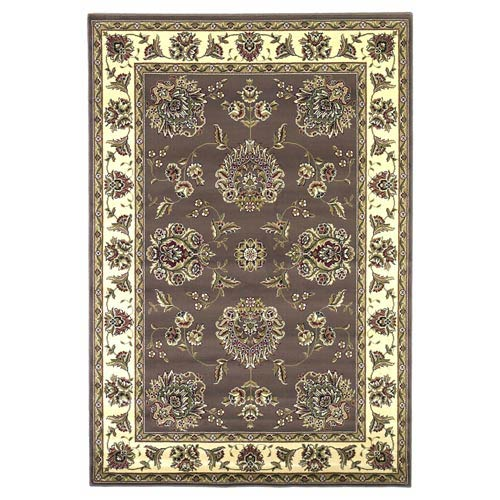 Cambridge Plum/Ivory Floral Mahal Rectangular: 9 ft. 10 in. x 13 ft. 2 in. Rug
