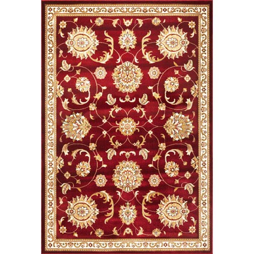Kas Oriental Rugs Cambridge Red Allover Mahal Rectangular 5 Ft 3 In X 7 Rug