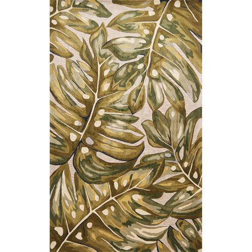 Catalina Green Palms Rectangular: 30 In. x 50 In. Rug