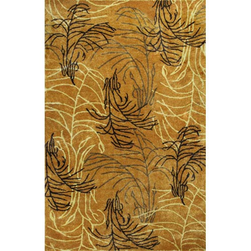 KAS Oriental Rugs Chanteuse Fields Of Gold Rectangular: 5 Ft. x 8 Ft. Rug