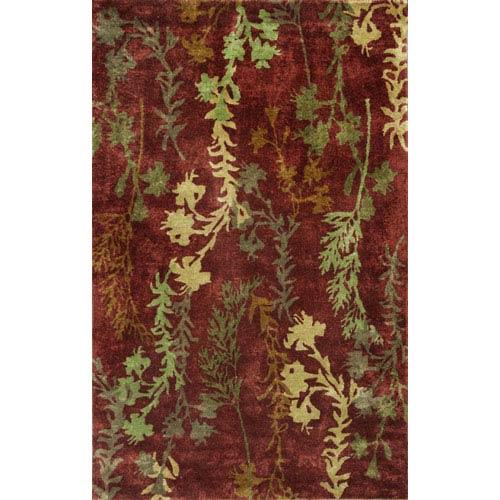 KAS Oriental Rugs Chanteuse Rust Serenity Rectangular: 5 Ft. x 8 Ft. Rug