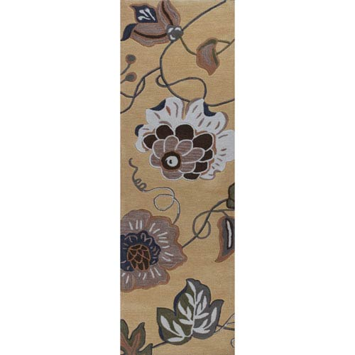 Coral Gold Runner: 2 Ft. 3-Inch x 7 Ft. 6-Inch Rug