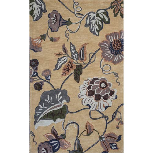Coral Gold Rectangular: 3 Ft. 3-Inch x 5 Ft. 3-Inch Rug