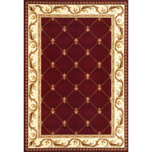 KAS Oriental Rugs Corinthian Red  Fleur-De-Lis Rectangular: 2 Ft. 3 In. x 3 Ft. 3 In.  Rug