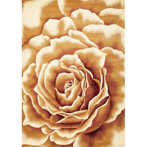 KAS Oriental Rugs Corinthian Ivory Floral Splendor Rectangular: 5 Ft. 3 In. x 7 Ft. 7 In.  Rug