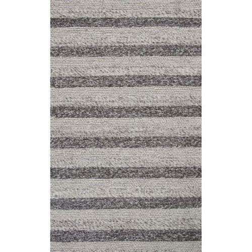 KAS Oriental Rugs Cortico Gray and White Rectangular: 3 Ft. 3-Inch x 5 Ft. 3-Inch Rug