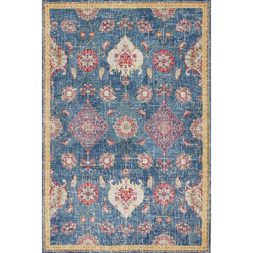 KAS Oriental Rugs Dreamweaver Blue Layla Rectangular: 3 Ft. 3 In. x 4 Ft. 11 In. Rug