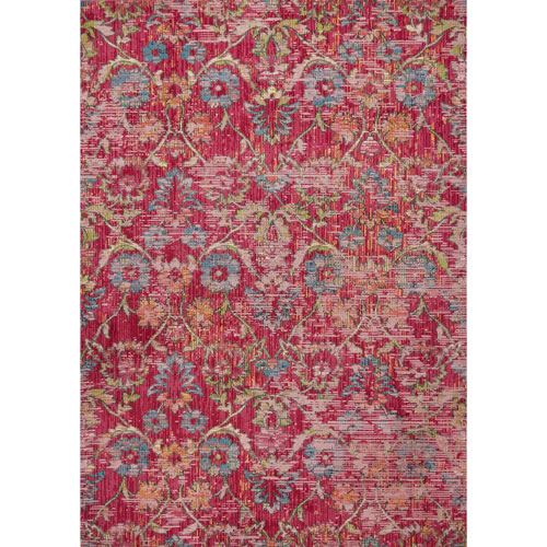 KAS Oriental Rugs Dreamweaver Pink Delaney Rectangular: 3 Ft. 3 In. x 4 Ft. 11 In. Rug