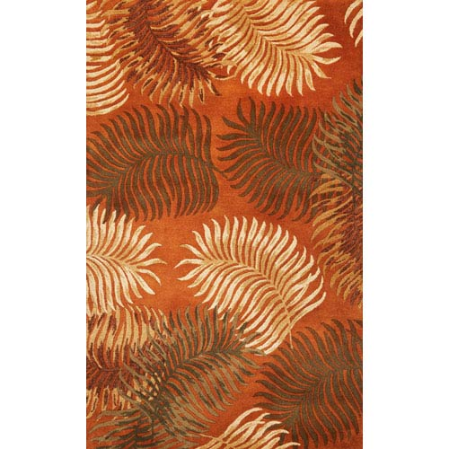 KAS Oriental Rugs Havana Rust Fern View Rectangular: 5 Ft. X 8 Ft.  Rug