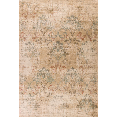 Heritage Champagne Damask Rectangular: 3 Ft. 3 In. x 4 Ft. 11 In. Rug
